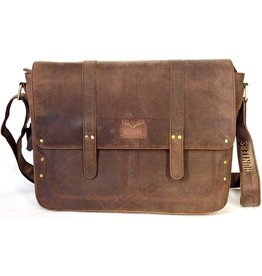Hunters Hunters Leather Laptop bag Dark brown
