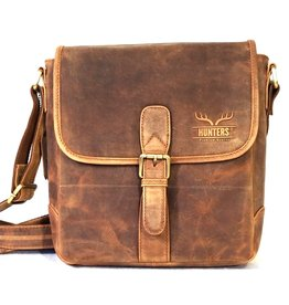 Hunters Hunters Leather Shoulder bag with buckle