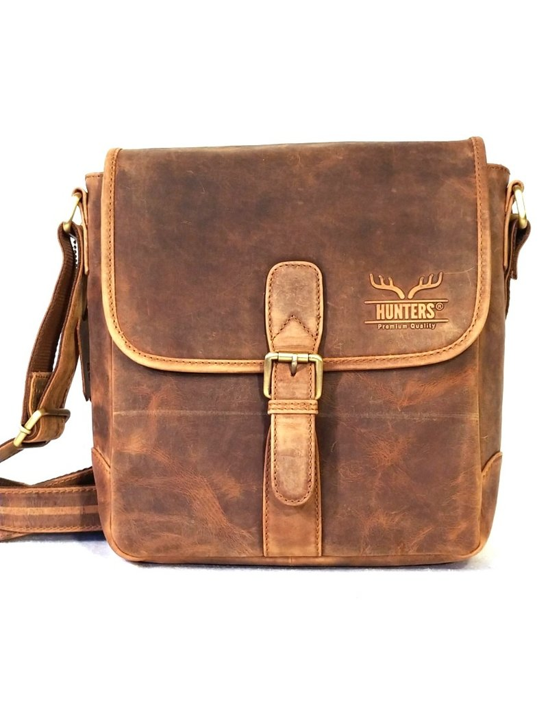 Hunters Leather Shoulder bags - Hunters Leather Shoulder bag with buckle