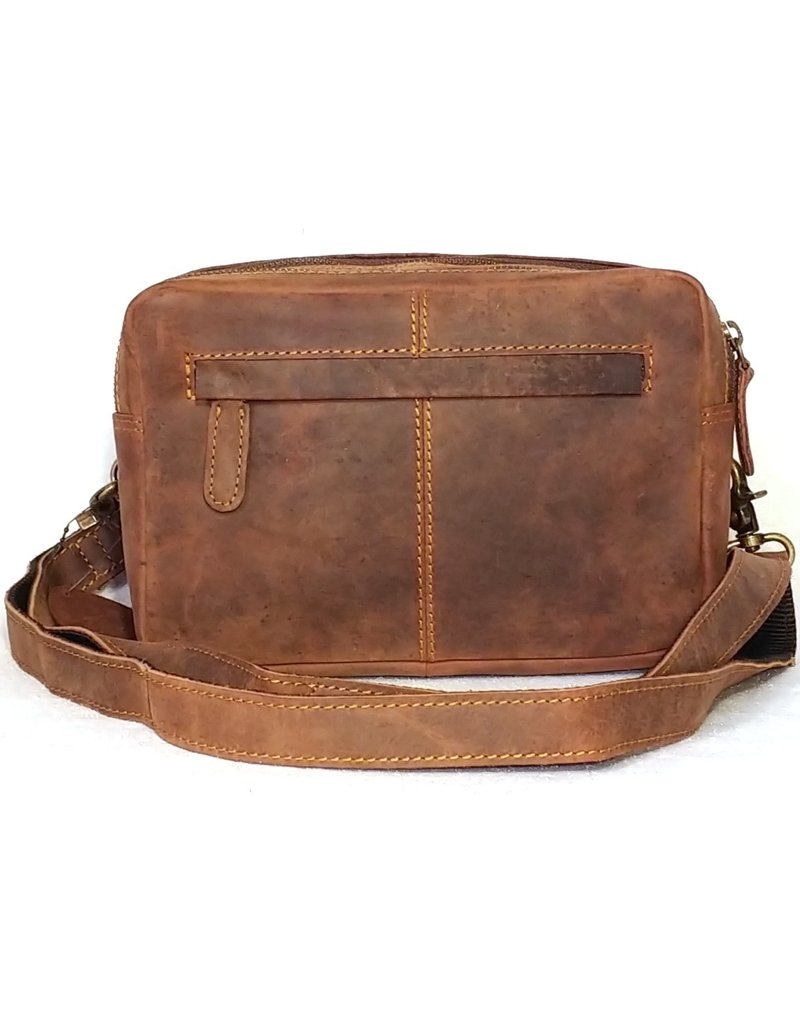 BestBurry Leather Shoulder bags - BestBurry Leather Shoulder Bag with many compartments