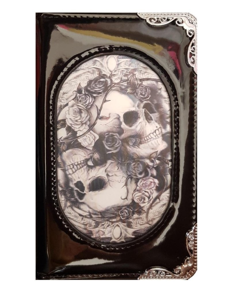 Alchemy Gothic and Steampunk wallets - Alchemy 3D lenticular purse  Skulls and Roses Diosurri