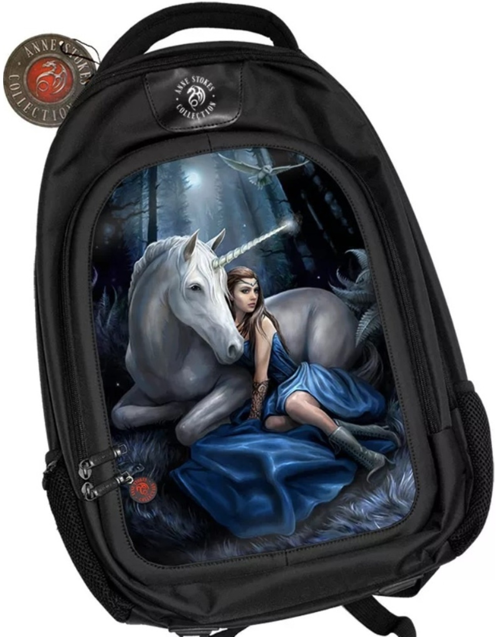 Anne Stokes Fantasy bags and wallets - Anne Stokes 3D lenticular backpack Blue Moon