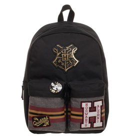 Bioworld Harry Potter Patches Backpack with Pin Badge Hogwarts