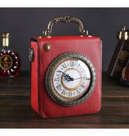 Magic Bags Retro Handbag with Real Working Clock and Embroidery