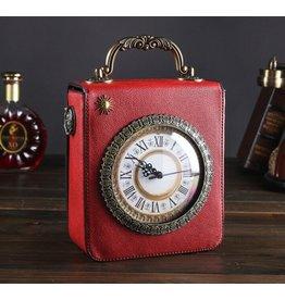 Magic Bags Retro Handtas met Echt Werkende Klok en Borduurwerk