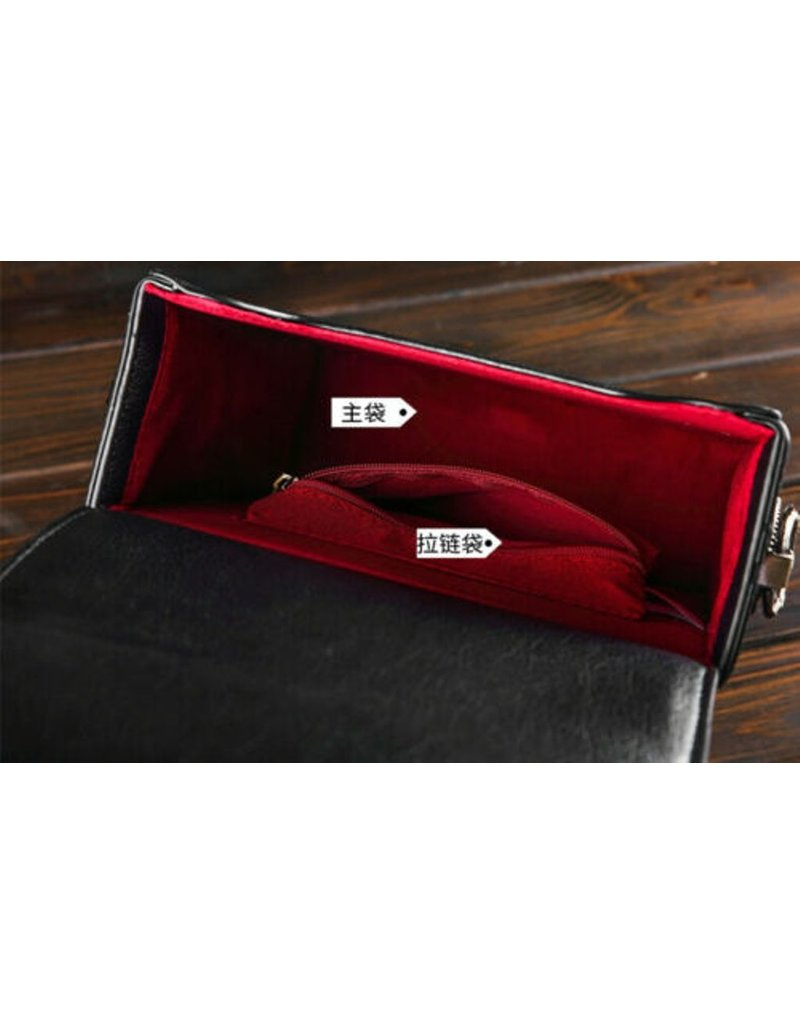 Magic Bags Retro tassen Vintage tassen - Retro Handtas met Echt Werkende Klok en Borduurwerk
