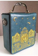 Magic Bags Retro bags  Vintage bags - Retro Handbag with Real Working Clock and Embroidery