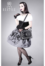 Restyle Gothic bags Steampunk bags - Alice in Wonderland Black Book-bag Restyle (black)