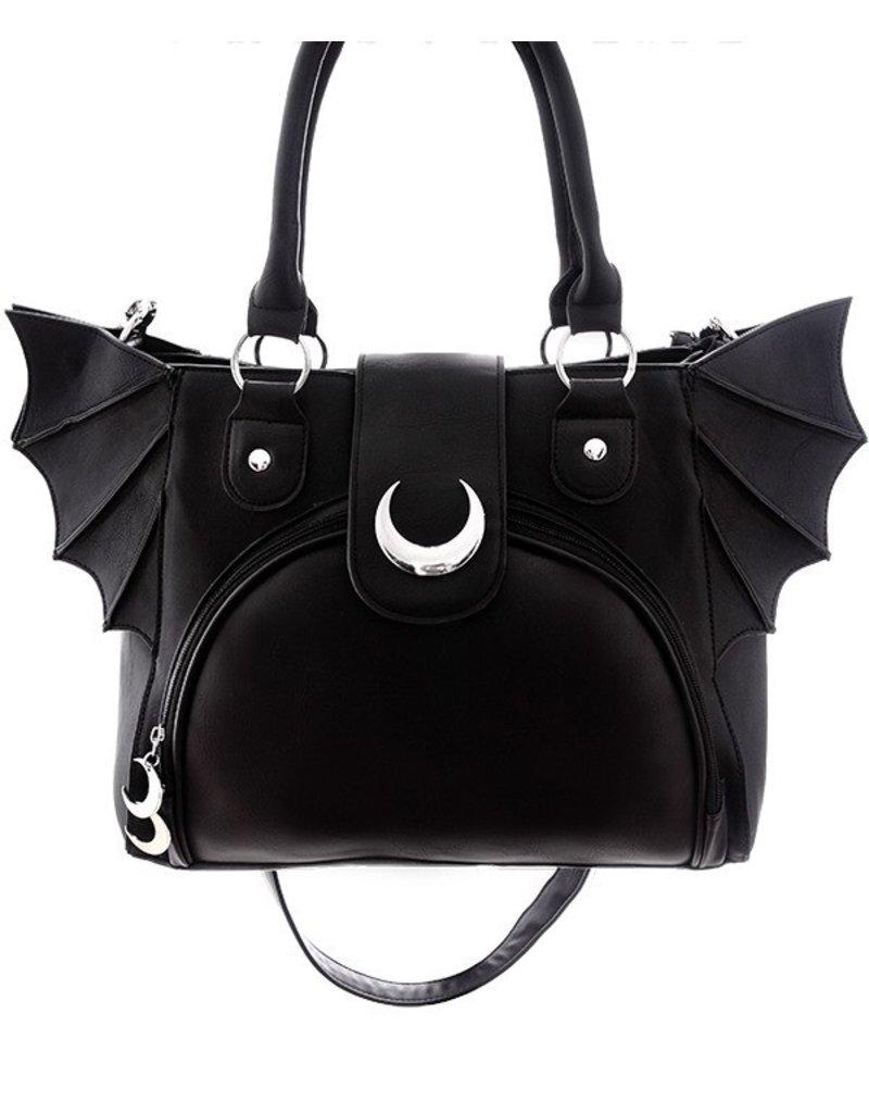 Restyle Gothic tassen Steampunk tassen -  Moon Bat Gothic handtas Restyle