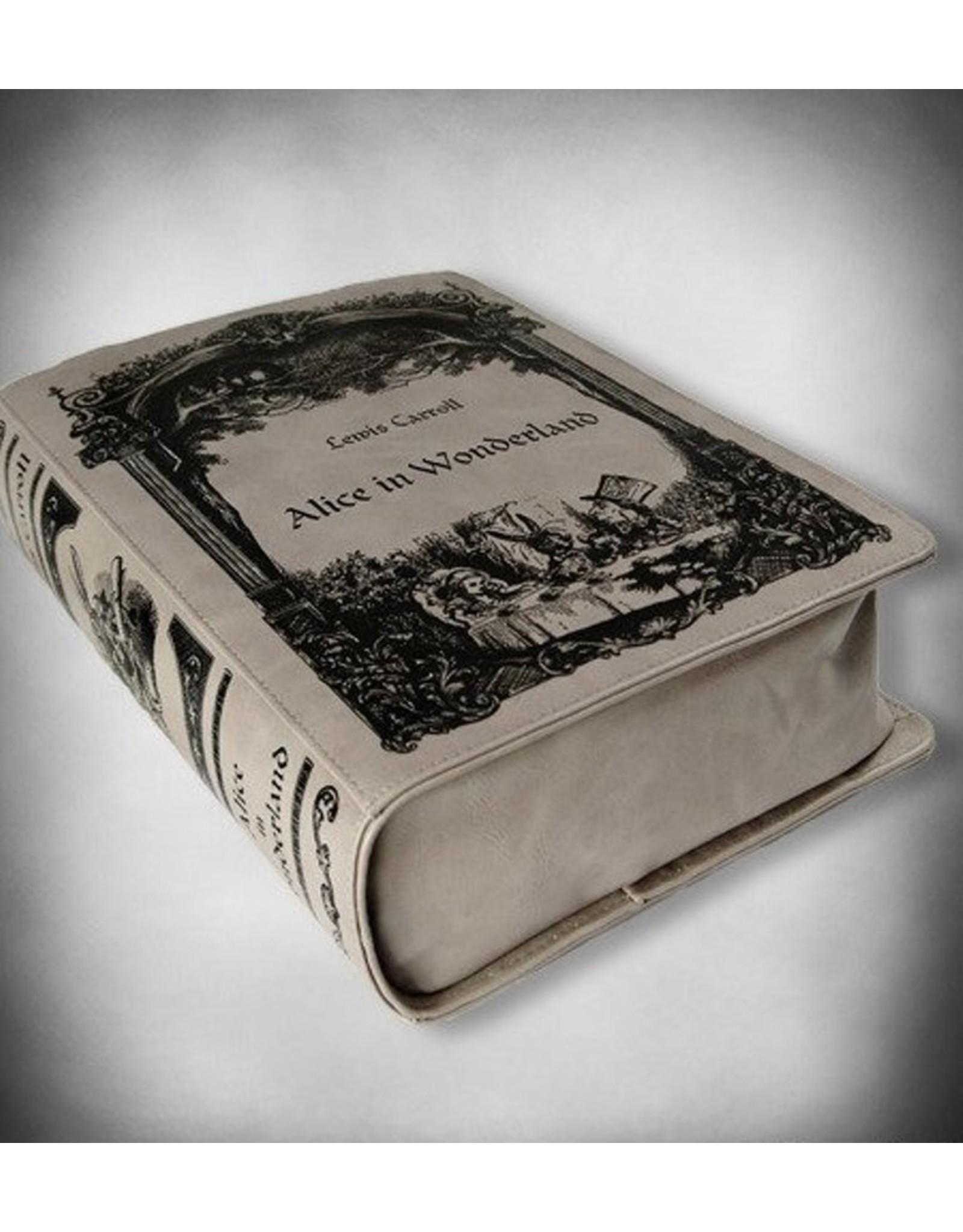 Restyle Gothic tassen Steampunk tassen -  Alice in Wonderland Boek-tas Restyle (grijs)