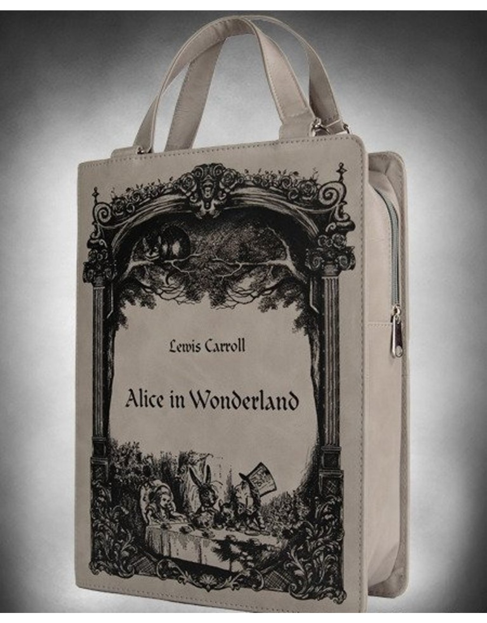 Restyle Gothic bags Steampunk bags - Alice in Wonderland  Book-bag Restyle (grey)