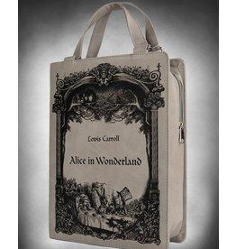 Restyle Alice in Wonderland Boek-tas Restyle (grijs)