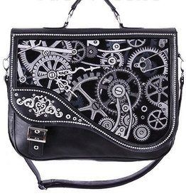Restyle Restyle Steampunk satchel bag Black Mechanism