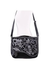 Restyle Gothic bags Steampunk bags - Restyle Steampunk satchel bag Black Mechanism