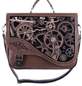 Restyle Restyle Steampunk schooltas Brown Mechanism