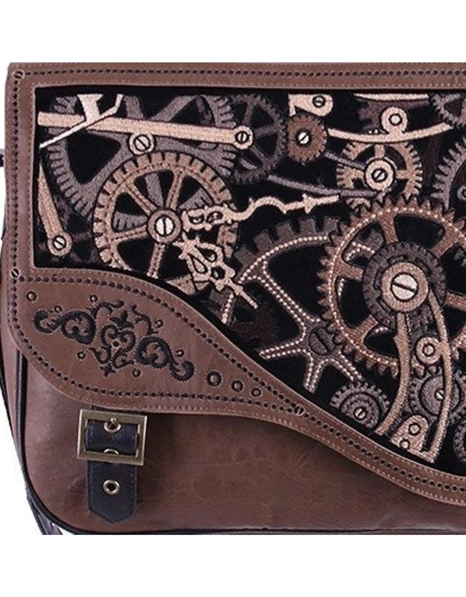 Restyle Gothic tassen Steampunk tassen -  Restyle Steampunk schooltas Brown Mechanism