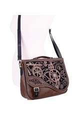 Restyle Gothic bags Steampunk bags - Restyle Steampunk satchel bag Brown Mechanism