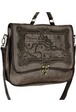 Restyle Gothic bags Steampunk bags - Restyle satchel bag Map of Caribbean Sea (brown)