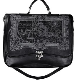Restyle Restyle satchel bag Map of the Caribbean Sea (black)