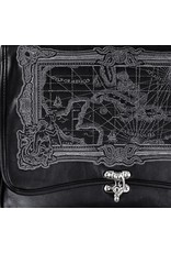 Restyle Gothic bags Steampunk bags - Restyle satchel bag Map of the Caribbean Sea (black)