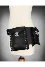 Restyle Gothic en Steampunk accessoires - Restyle Steampunk Heupriem met zakken (zwart)