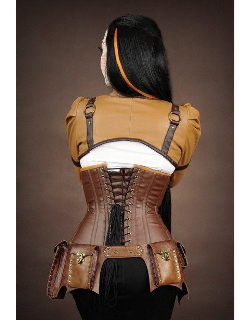 Restyle Gothic and Steampunk accessories - Restyle Steampunk Pocket Belt (brown)