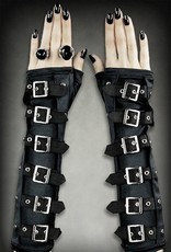 Restyle Gothic and Steampunk accessories - Restyle Gothic Arm Warmers gloves with Buckles