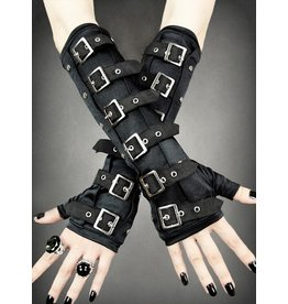 Restyle Restyle Gothic Arm Warmers gloves with Buckles