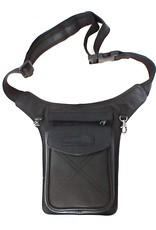 HillBurry Leather bags - HillBurry Leather Waist bag black