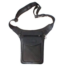 HillBurry HillBurry Leather Waist bag black