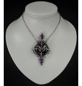 Restyle Gothic Ketting met Pentagram hanger Mystic Mirror