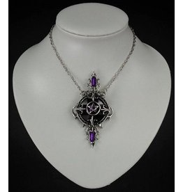 Restyle Gothic Necklace with Pentagram pendant Mystic Mirror