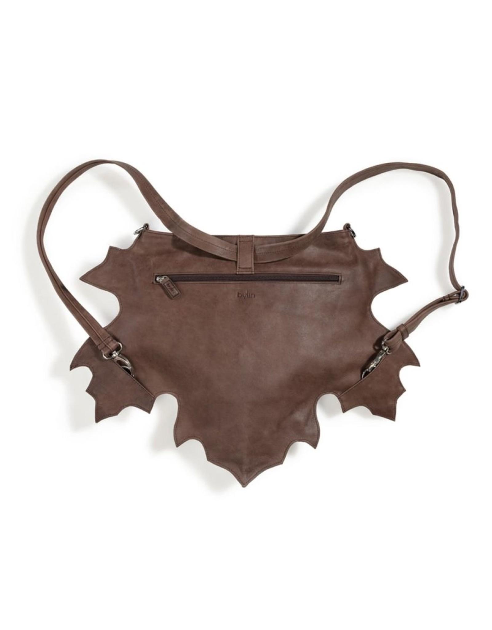 by-Lin Dutch Design Leren tassen - by-Lin Dutch Design Maple Leren schoudertas-rugtas