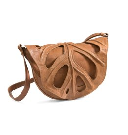 by-Lin Dutch Design by-Lin Dutch Design Jungle Leaf Leather shoulder bag