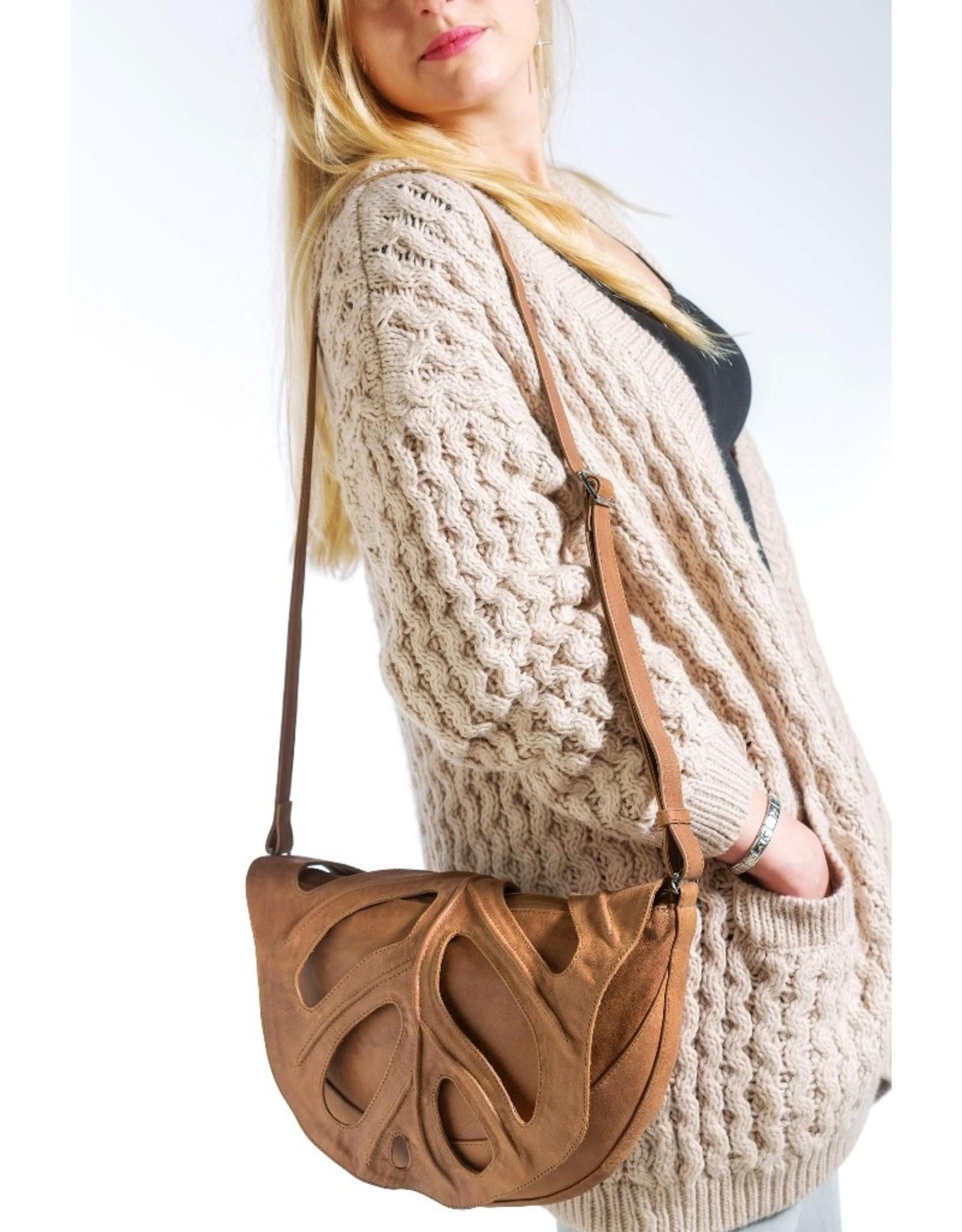 by-Lin Dutch Design Leather bags - by-Lin Dutch Design Jungle Leaf Leather shoulder bag