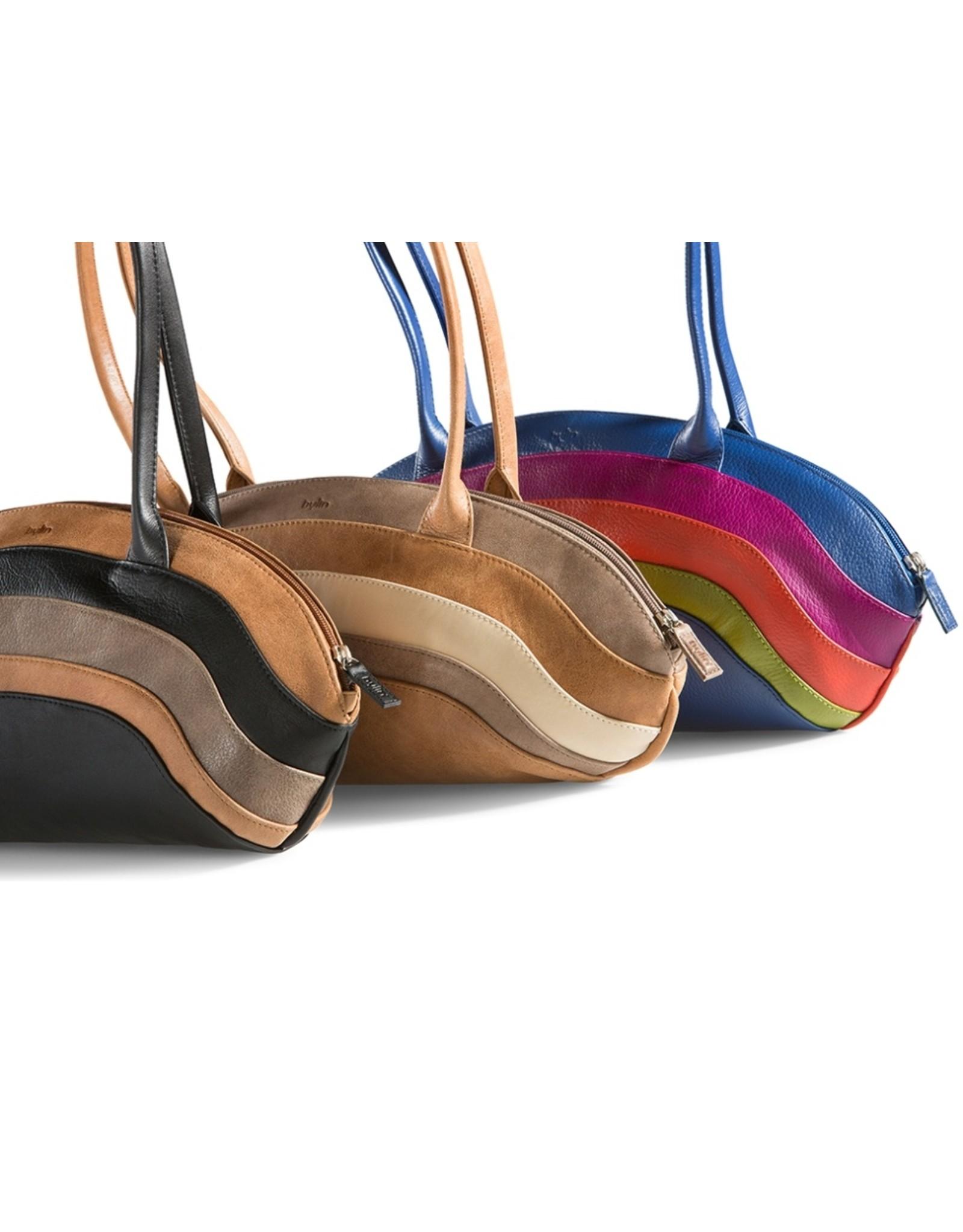 by-Lin Dutch Design Leren tassen - by-Lin Dutch Design Rainbow Leren schoudertas