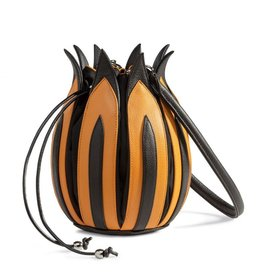 "by-Lin Dutch Design by-Lin Dutch Design Tulip ""Rembrandt"" Leather handbag"