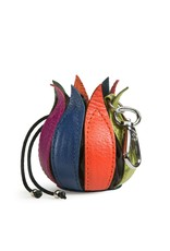 by-Lin Dutch Design Leather Wallets - by-Lin My Little Tulip Leather keychain Multicolor