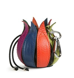 by-Lin Dutch Design by-Lin My Little Tulip Leather keychain  Multicolor