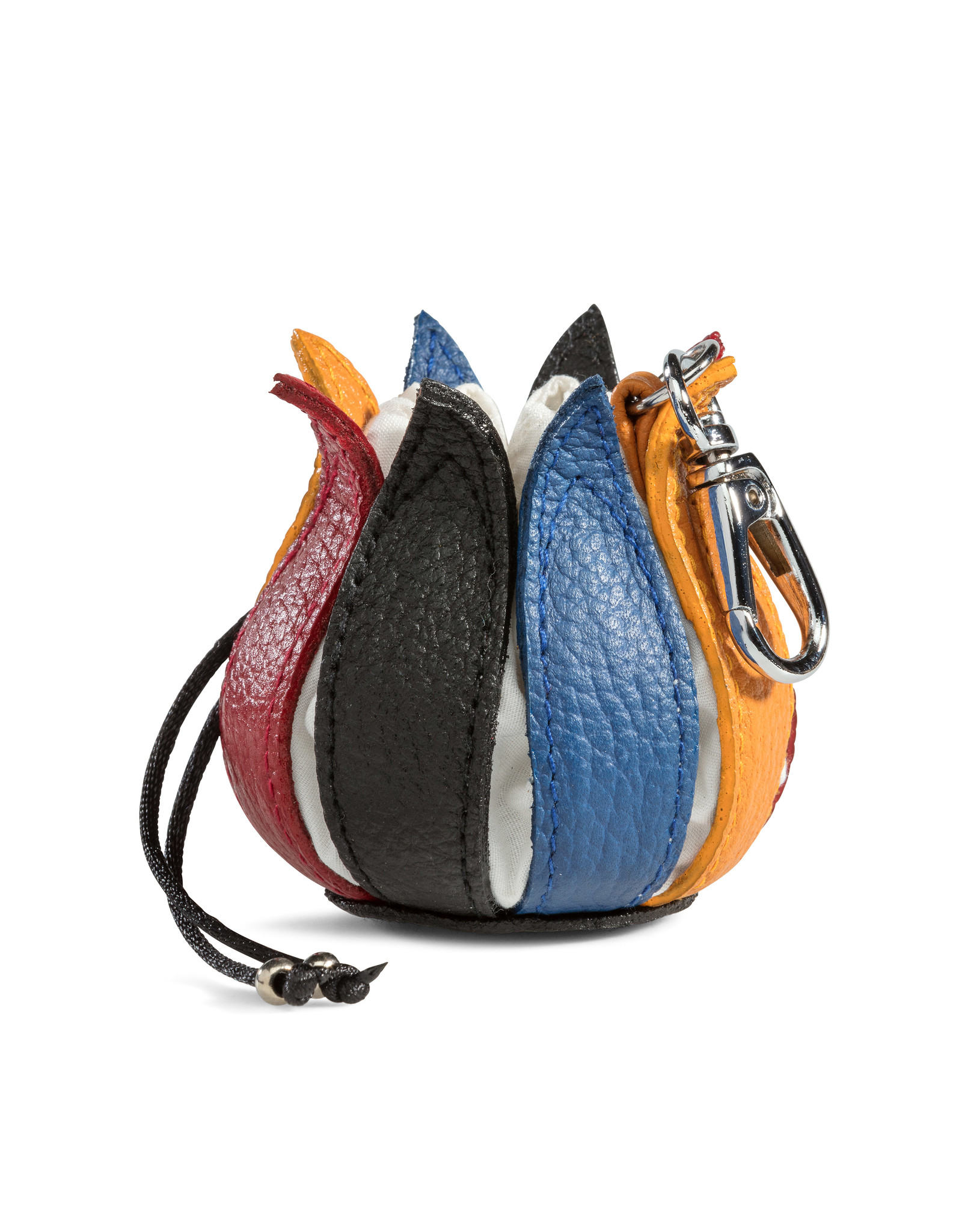 """by-Lin Dutch Design Leather Wallets - by-Lin My Little Tulip Leather keychain """"Mondriaan"""""""