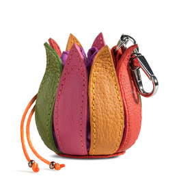 "by-Lin Dutch Design by-Lin My Little Tulip Leather keychain  ""Multi-Violet"""
