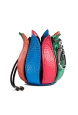"by-Lin Dutch Design Leather Wallets - by-Lin My Little Tulip Leather keychain  ""Flower Power"""