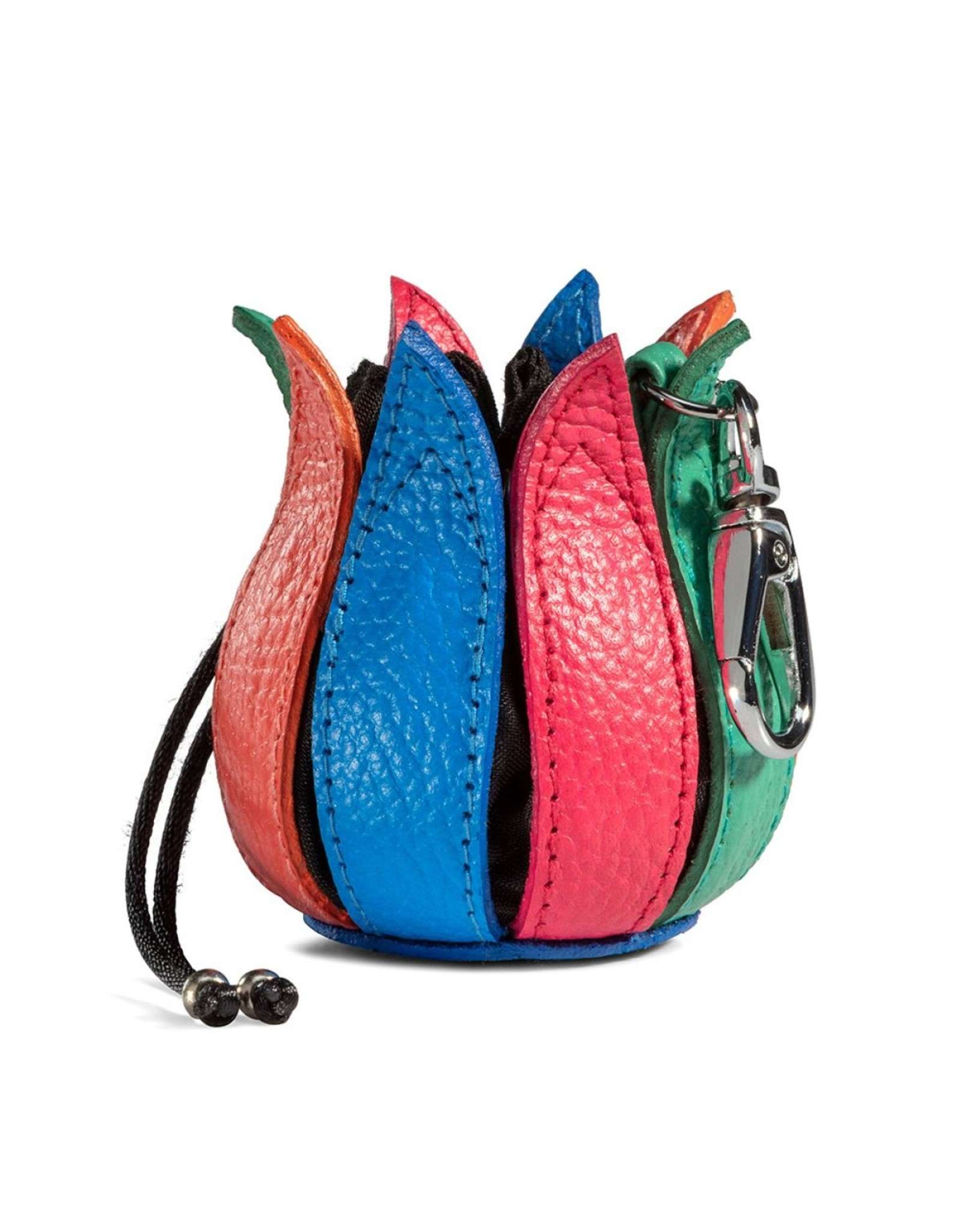"""by-Lin Dutch Design Leather Wallets - by-Lin My Little Tulip Leather keychain  """"Flower Power"""""""