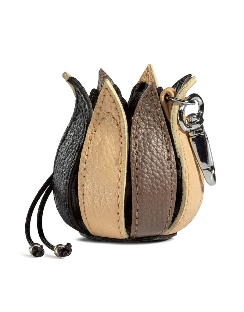 """by-Lin Dutch Design Leather Wallets - by-Lin My Little Tulip Leather keychain  """"Winter"""""""