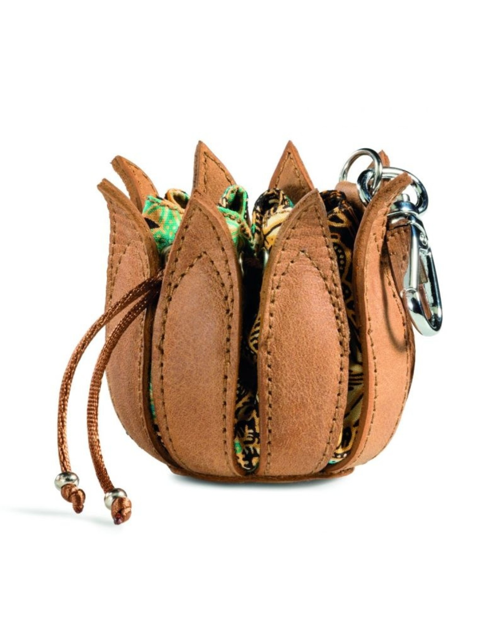 """by-Lin Dutch Design Leather Wallets - by-Lin My Little Tulip Leather keychain  """"Ibiza"""""""