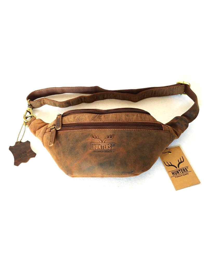 """Hunters Leather bags - Hunters Leather Waist bag Öriginal"""" Brown Tanned Leather"""