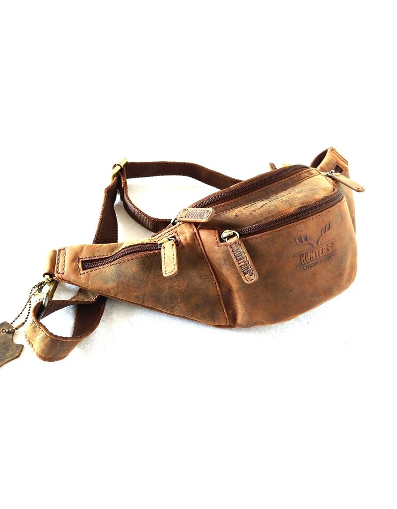 "Hunters Leather bags - Hunters Leather Waist bag ""Box"" Brown Tanned Leather"