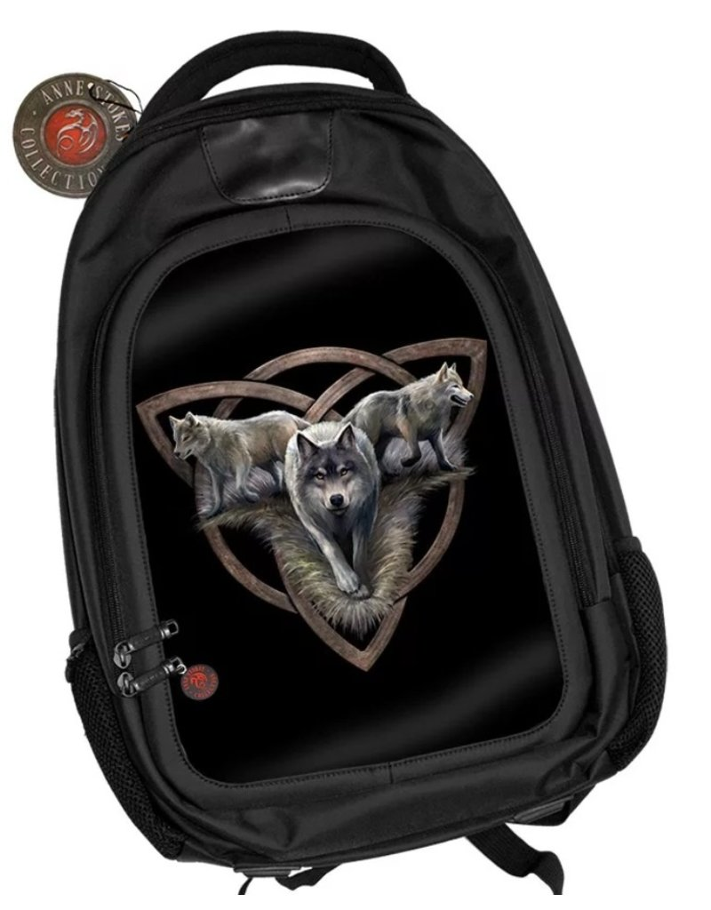 Anne Stokes Fantasy bags and wallets - Anne Stokes 3D lenticular backpack Wolf Trio