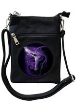 SheBlackDragon Fantasy bags and wallets - SheBlackDragon Black Magic Unicorn 3D lenticular mini crossbody bag