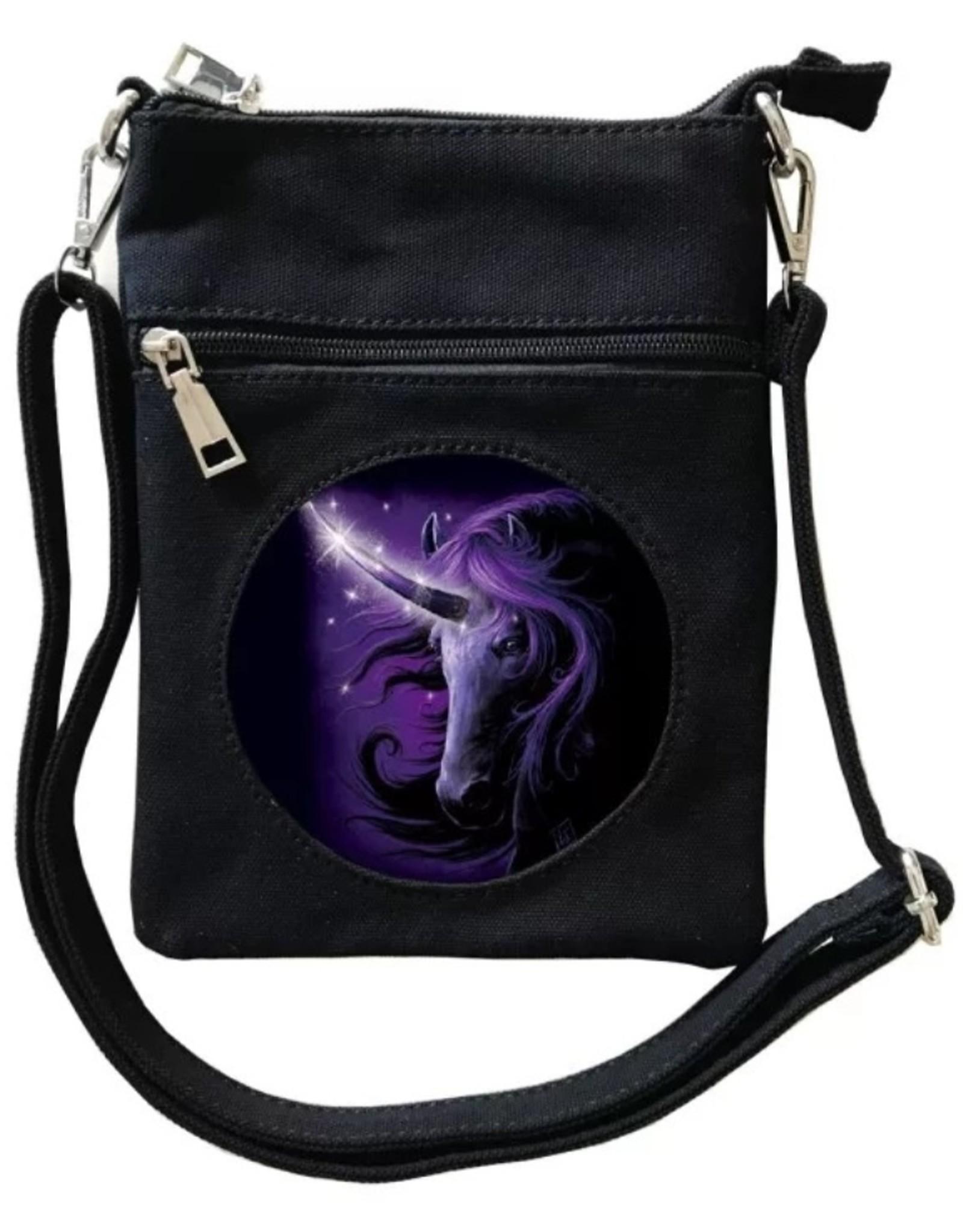 SheBlackDragon Fantasy tassen en portemonnees - SheBlackDragon Black Magic Unicorn 3D mini crossbody tas